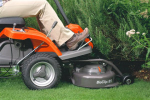 Husqvarna Rider R111B reaches places other mowers can't