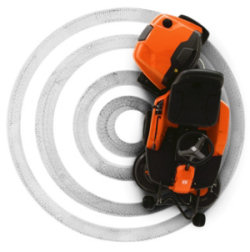 Husqvarna R111B easy to use in the garden