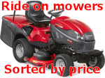 Ride on mowers by price
